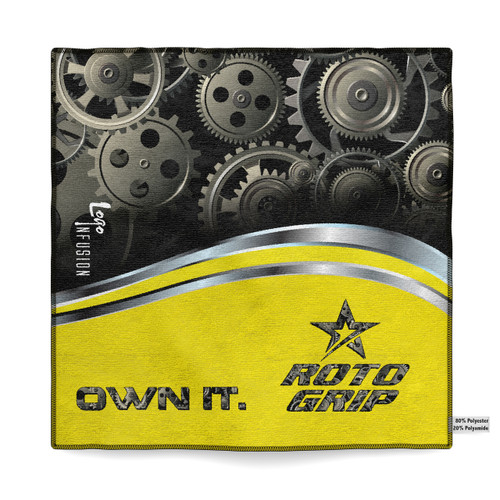 Roto Grip Black/Yellow Sublimated Towel