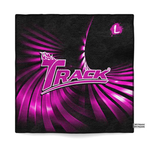 Track Pink Swirl Sublimated Towel