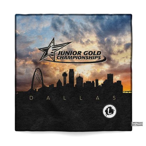 Junior Gold Dallas 2018 - Official Dye Sublimated Microfiber Towel - JG18_039MT