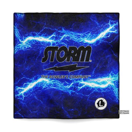 Storm Blue Lightning Flame Sublimated Towel