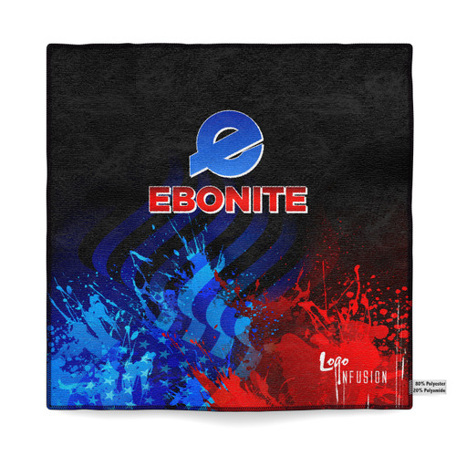 Ebonite Red/Blue Sublimated Towel