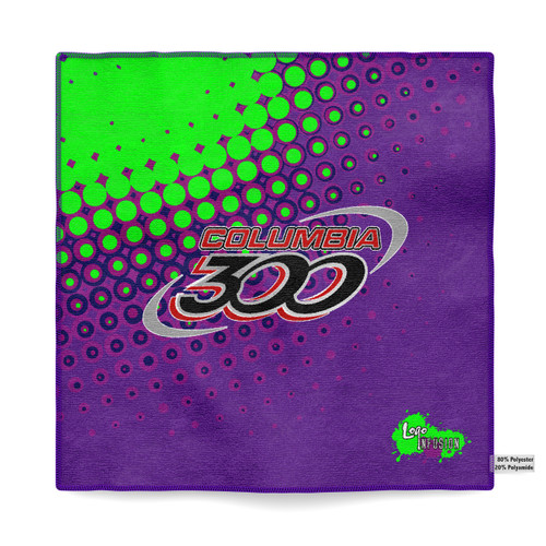 Columbia 300 Purple/Green Dots Sublimated Towel