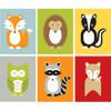 Woodland Animal Prints