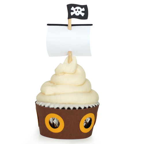 Pirate Cupcake Wrapper: Ship Sail