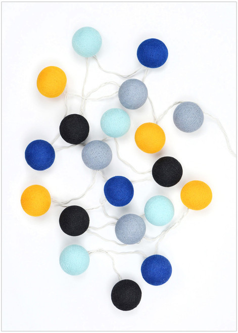 Decorative cotton ball lights that will add the perfect texture and accent to any indoor space or party.
