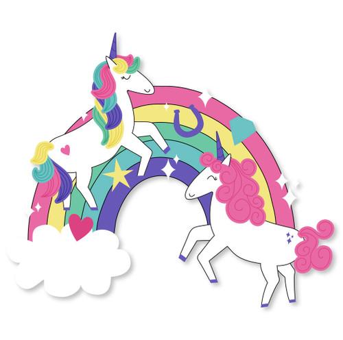 Dancing Unicorn on Rainbow