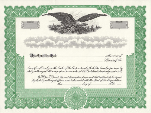 Stock Certificates Free Shipping