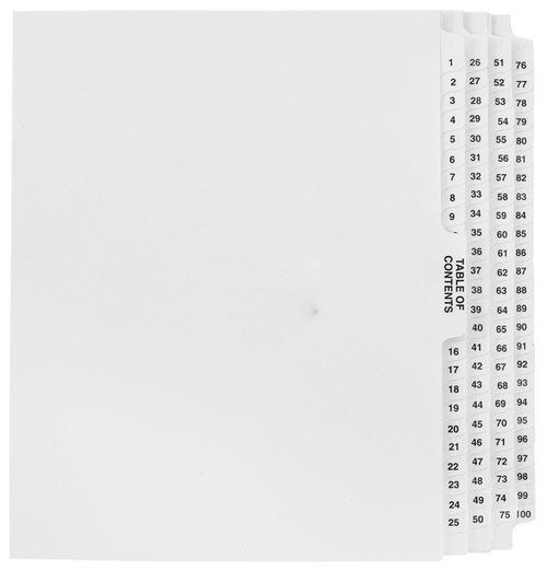 image is loading table of contents notebook ring binder a z dividers