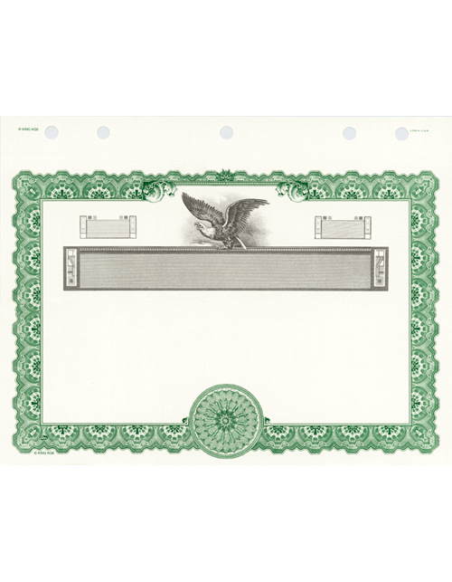 KG9 LLC Stock Certificates (Free Shipping) - ExhibitIndexes.com