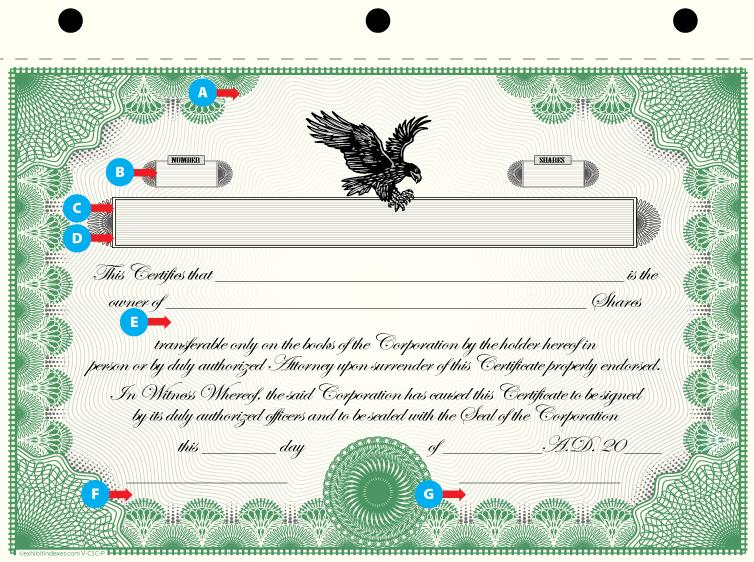 Custom Printed Corporate Stock Certificates Exhibitindexes