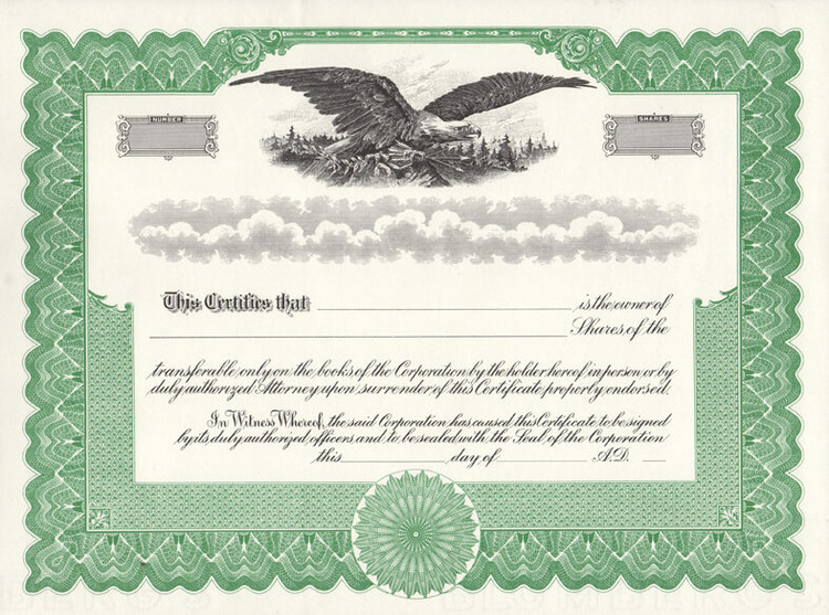 stock certificates free shipping. Black Bedroom Furniture Sets. Home Design Ideas