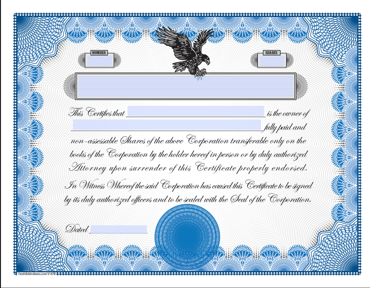 Printable stock certificates for Corporate bond certificate template