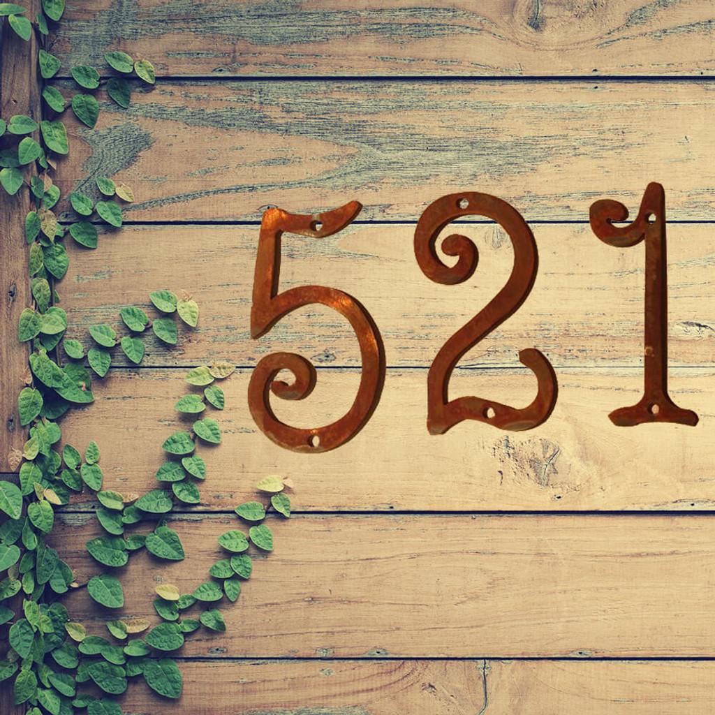"Fun Metal House Numbers  4"" or 6"" (GAW)"