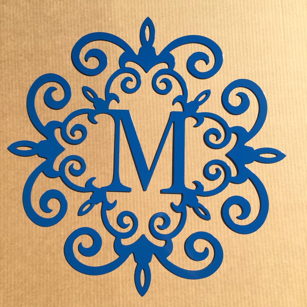 """Single Letter Monogram 24"""" (W19)"""