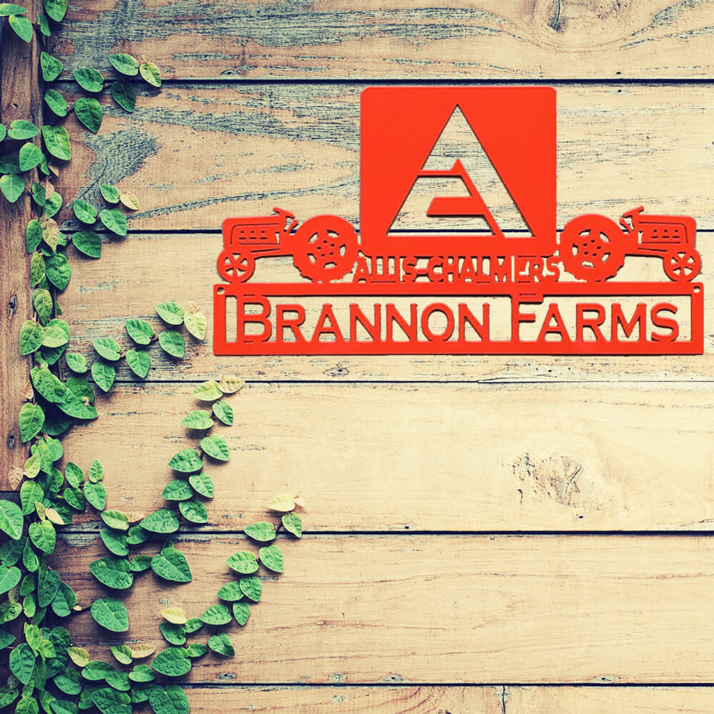 Allis Chalmers Tractor Sign by Rusty Rooster Fabrication & Design
