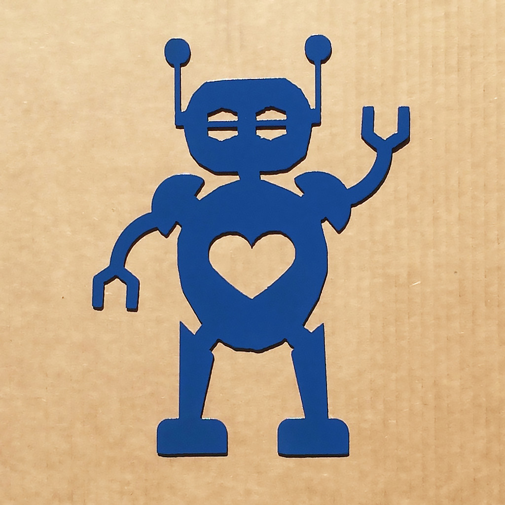 Metal Robot Wall Art With Heart (E2) - Rusty Rooster Fabrication ...