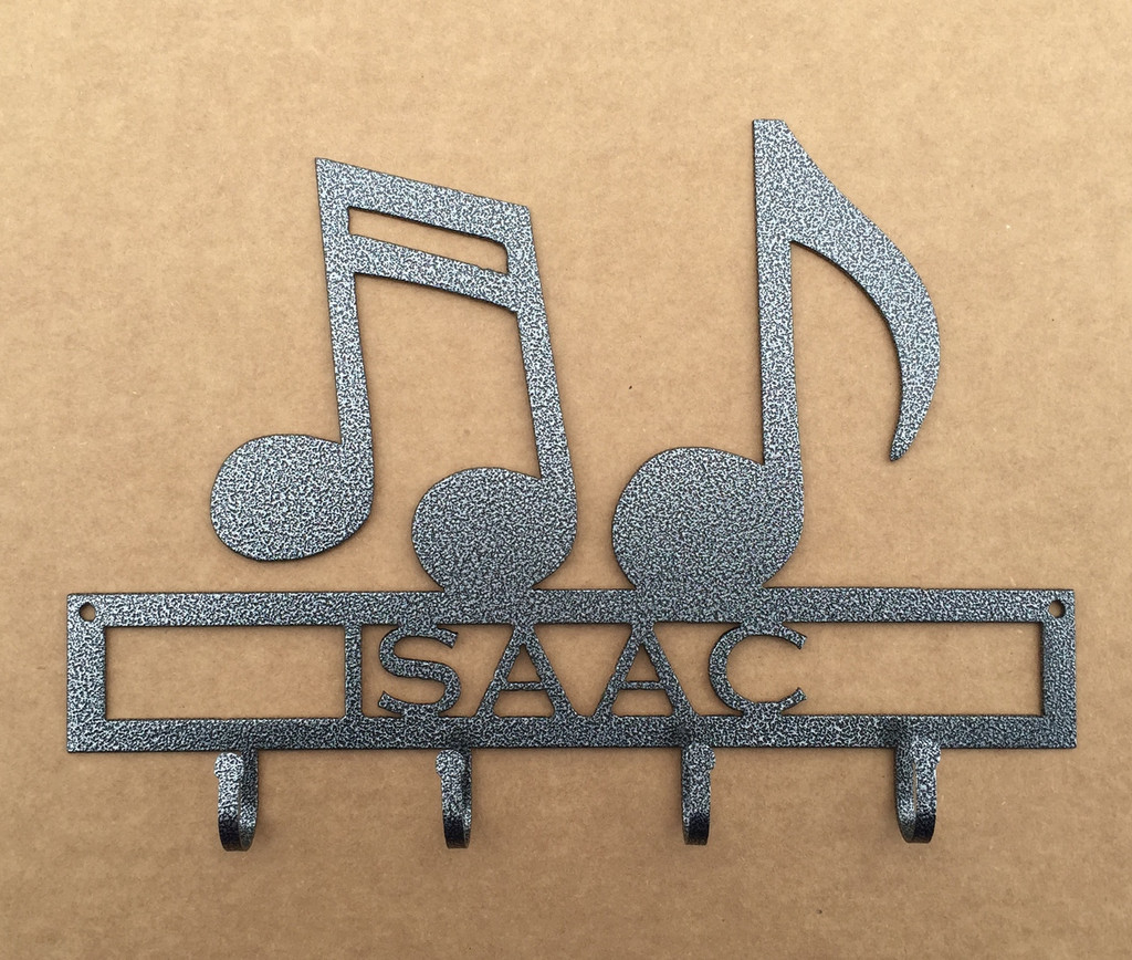 Music Notes Key Holder with Custom Text Metal (Y26)