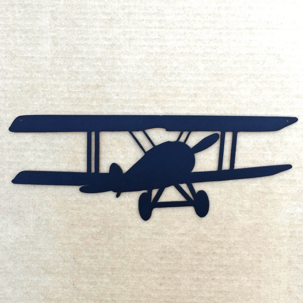Biplane Metal Wall Art (2A)