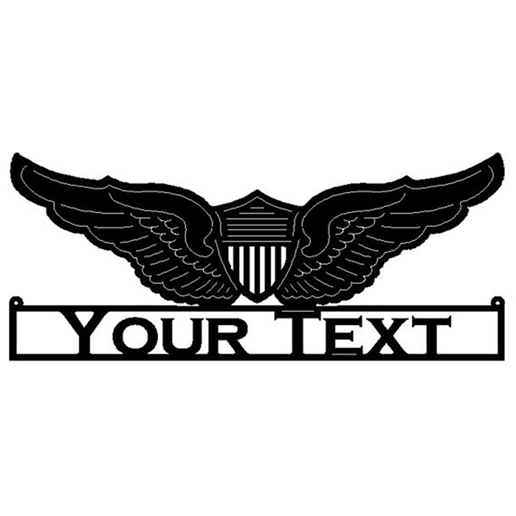 wings with custom text (N20)