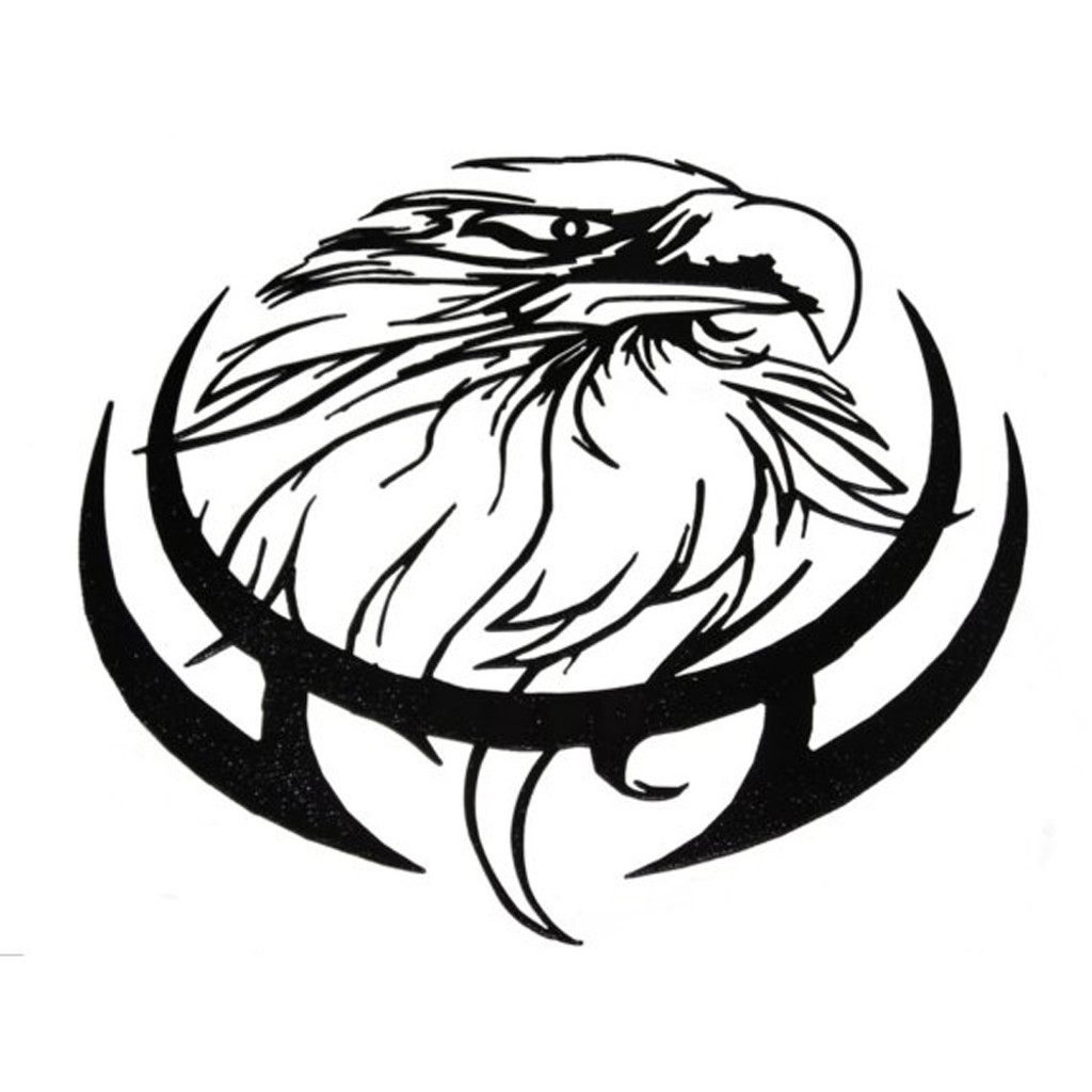 Eagle Head Metal Wall Art (H4)
