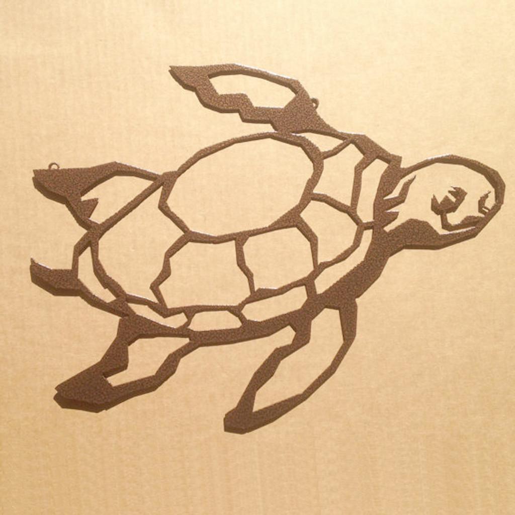 Turtle Metal Wall Art (J4) - Rusty Rooster Fabrication & Design
