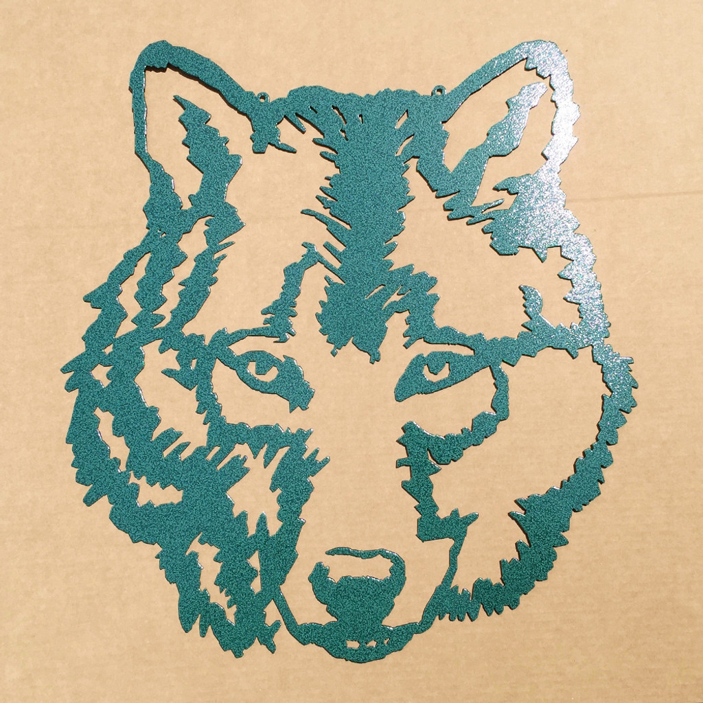 Wolf Metal Wall Art (E8) - Rusty Rooster Fabrication & Design