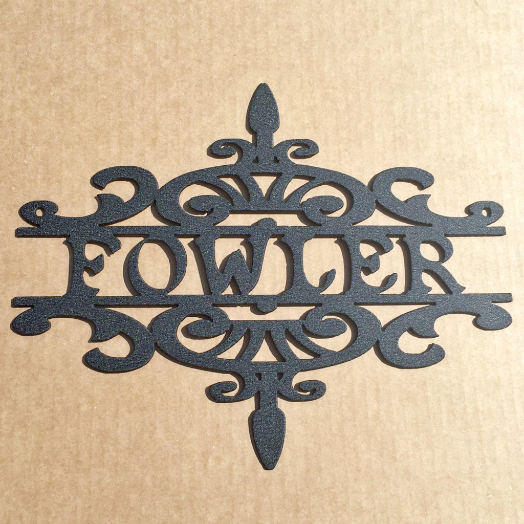 Fancy Scroll Work Address or Name Sign (T6)