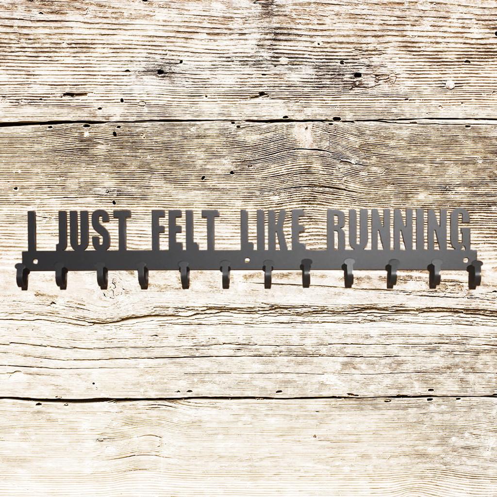 """I Just Felt Like Running"" Hanging Rack (P24)"