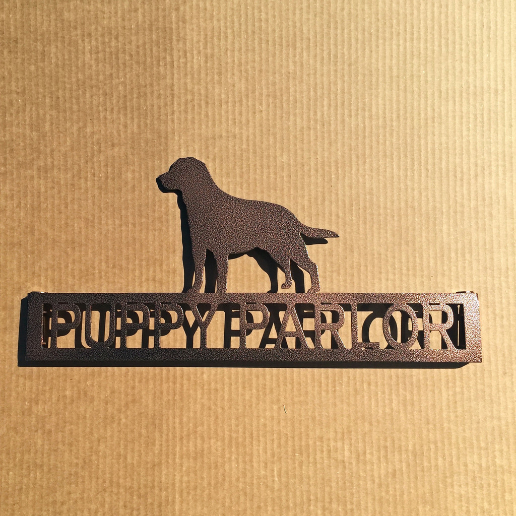 Labrador Retriever Metal Garden Stake with Personalized Text Field