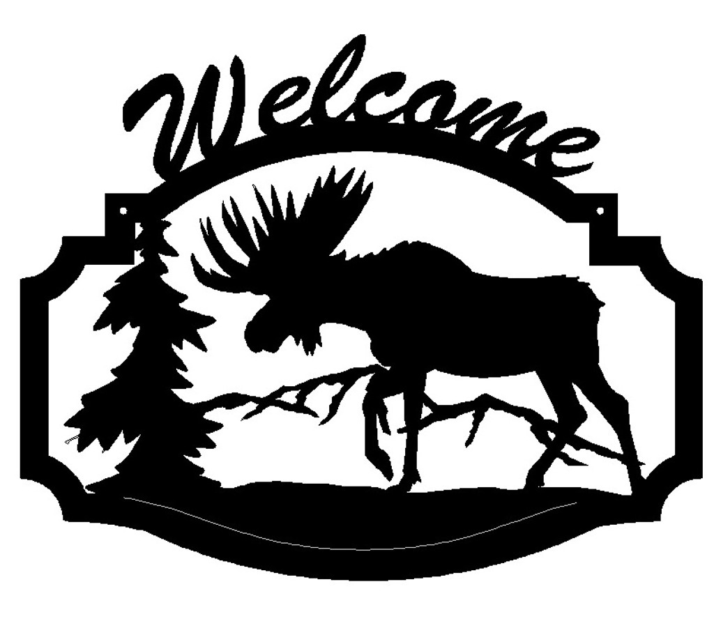 Moose Welcome Sign (B33)
