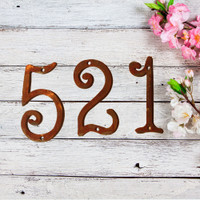 "Fun Metal House Numbers  4"" or 6"" (GAW)"