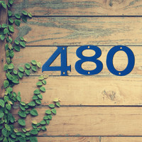 """Bold Metal House Numbers 4"""" or 6"""" (A15)"""