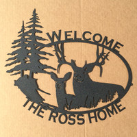 King & Queen of the Forest Welcome Sign (O9)  LARGE