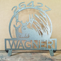 Buck and Doe Mail Box Topper (C18)