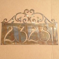 Custom Name Heart Scroll Metal Wall Art (N9)