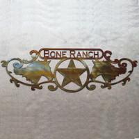 Horses with Texas star and custom text (Z13)