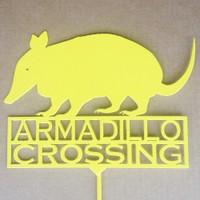 Armadillo Crossing Garden Stake (A11)