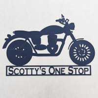 motorcycle with custom text (N17)
