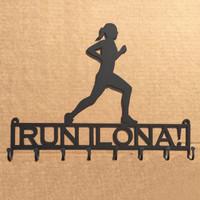 Female Runner Metal Rack Custom Text