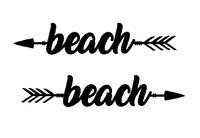 Get Lost at the Beach Arrow Wall Art (B59)