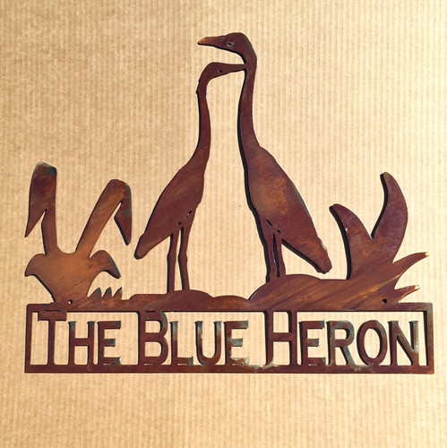 Heron Sign with Custom Text Field (X1)
