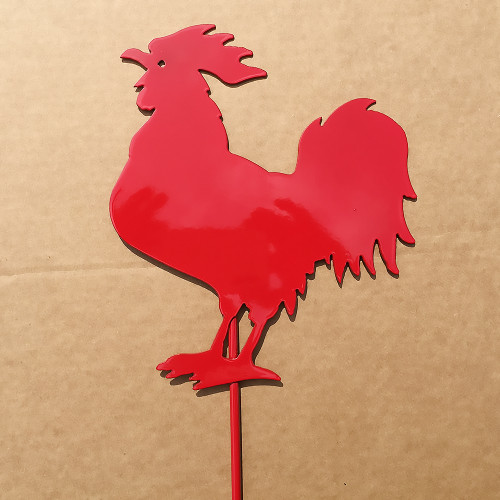 Rooster Metal Garden Stake (D1)