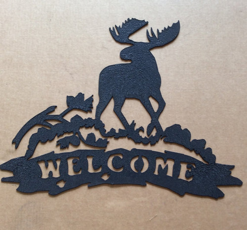 Moose Welcome Metal Wall Art (S)