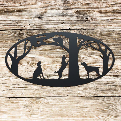 Coon Dogs Metal Wall Art (C3)