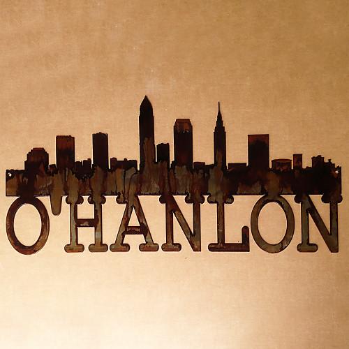 Cleveland Skyline with Custom Text Underneath Skyline (X19)