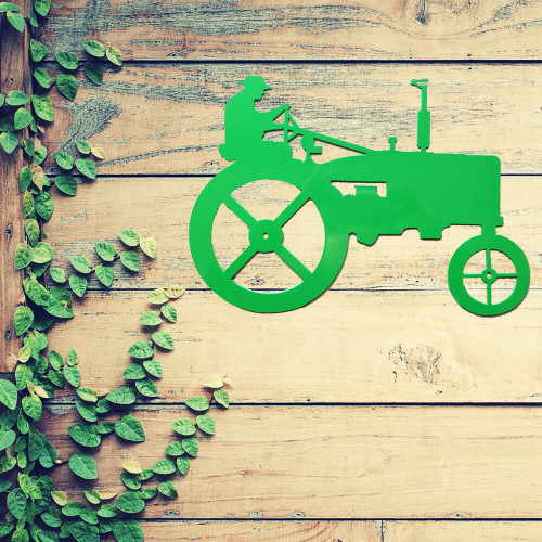 Small Tractor Wall Art (A4)