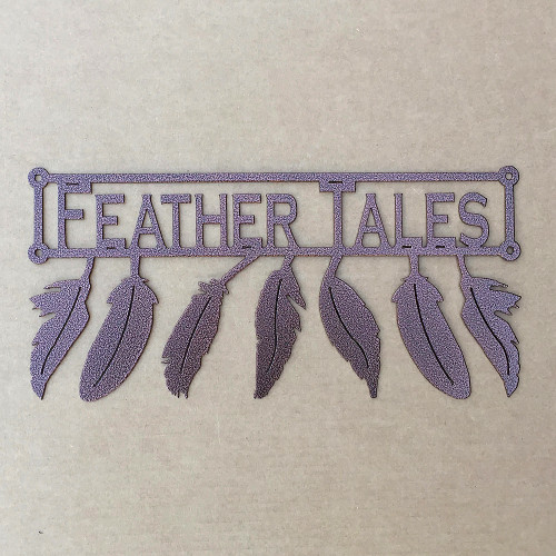 Metal Art Feathers with Custom Text Field (L18)