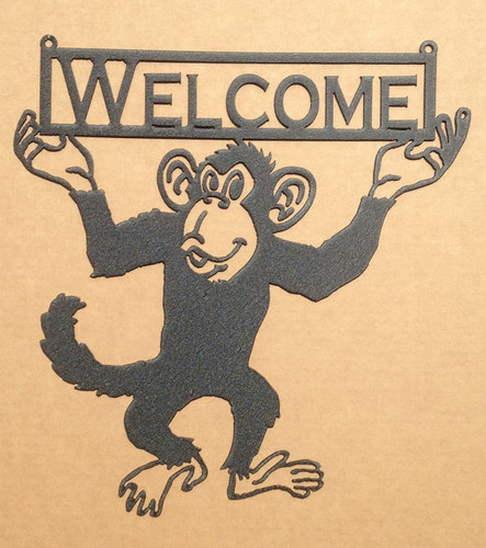 Monkey Wall Decoration with Custom Text (Q17)