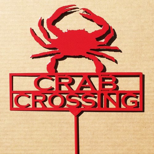 Crab Crossing Garden Stake (A12)