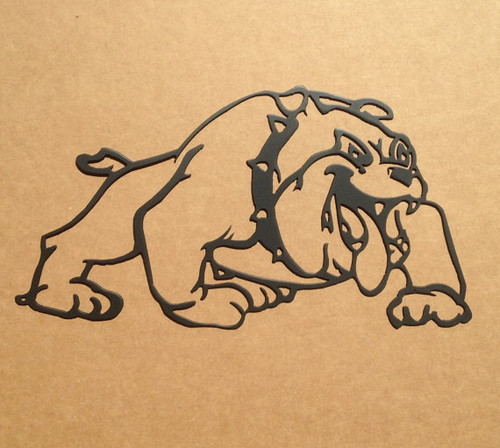 Bulldog Metal Wall Art (F1)